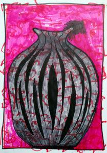 Vase Aramäisch (negativ)